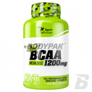 Sport Definition BCAA MEGA DOSE 1200mg - 120 kaps.